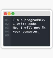 I Am A Programmer Sticker