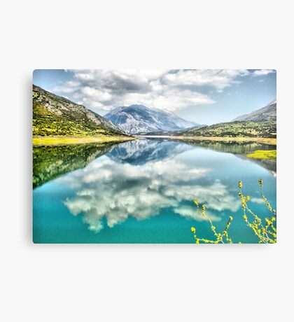 Clouds over the lake Metal Print