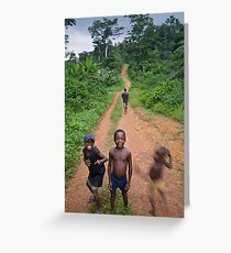 Village road in Sinoe Greeting Card