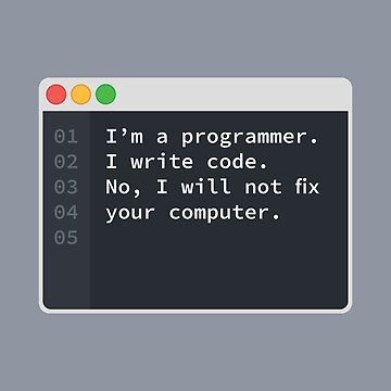 I Am A Programmer by codewearIO
