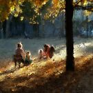 Mothers and daughers in the sun by Nikolay Semyonov