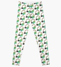 Irish Shamrocks and Gold at the end of the rainbow Leggings