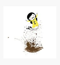 Dear Girl - Mud Puddle Photographic Print