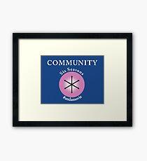 Community: Six Seasons #andamovie Framed Print