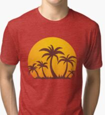 Palm Trees and Sun Tri-blend T-Shirt
