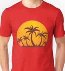 Camiseta ajustada Palmeras y sol