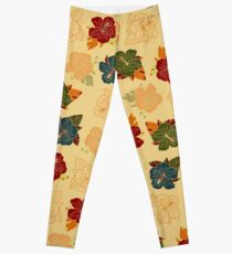 Hibiscus retro Leggings