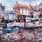 Cornish Boats by Surrey Artist, Sera Knight by Ballet Dance-Artist