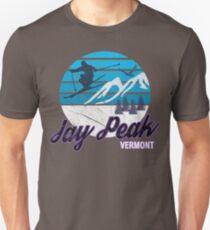 Jay Peak Vermont New England USA Ski Resort Snowboarding Winter Skiing Wear T-Shirts Hoodies Sweaters and Jumpers Unisex T-Shirt