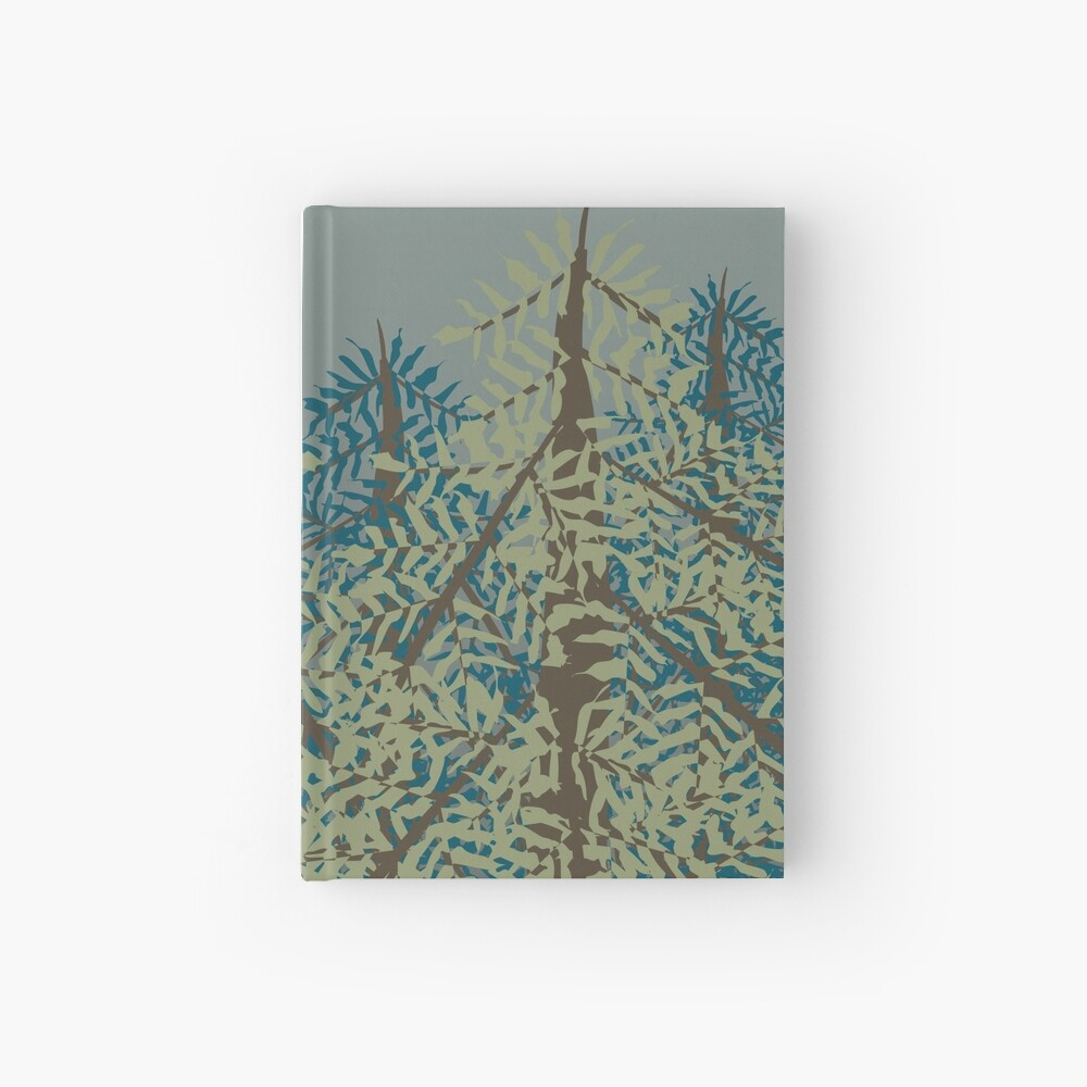 In the Forest Mist Hardcover Journal