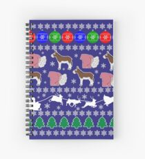 Donkey Ass Arse Butt Bottom Anus Mule Horse Arsehole Ugly Christmas Sweater Xmas Party Jumper Gift Idea Spiral Notebook