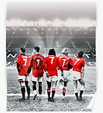 Manchester United Greatest Number 7's Design - Eric Cantona, Cristiano Ronaldo, George Best, David Beckham, Bryan Robson   T Shirt   Graphic Tee   Phone Case   Mug   Tablet   Poster & much more Poster