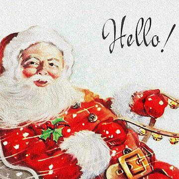 Retro Santa in Sleigh  by dianegaddis