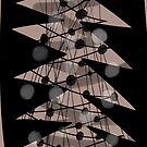 Black and White Retro Christmas Tree by Michael Pfleghaar