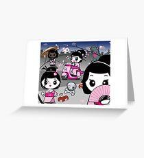 mikoto's Geishas Greeting Card