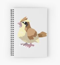 Pidgey Pokemon Simple No Borders Spiral Notebook