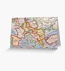 map of Europe Greeting Card