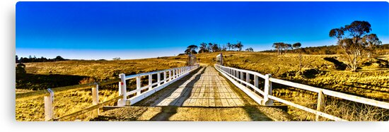 Rural bridge - Somewhere near Captains Flat by Geoffrey Thomas