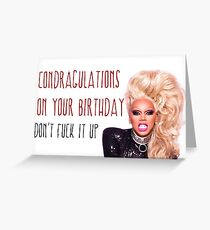 RuPaul, Condragulations, congratulations card, meme greeting cards Greeting Card
