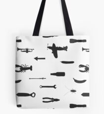 Spitfire, tool, banana and lobster Tote Bag