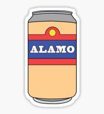 Pegatina Lata de cerveza Alamo