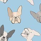 « frenchies à pois motif bulldog français » par Michelle doran