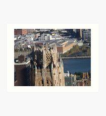 Lámina artística Vista aérea, Arquitectura clásica, Midtown East, Ciudad de Nueva York