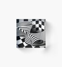 Op Art | Optical effects through pattern and line Acrylic Block