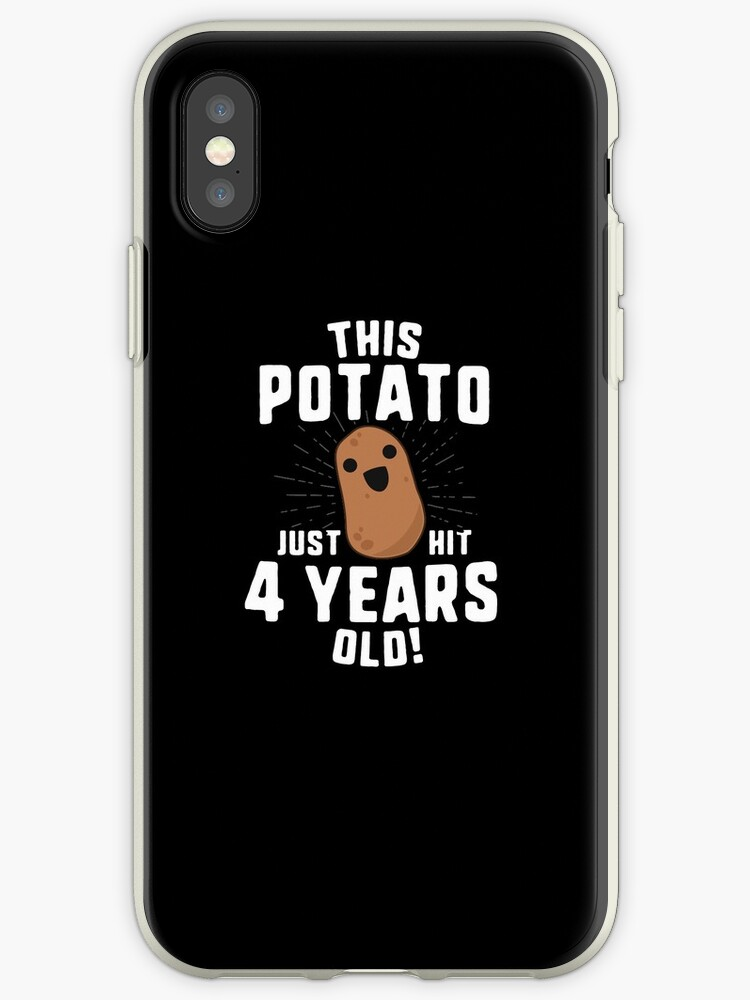 This Potato Just Hit 4 Years Old T Shirt Birthday Boy Girl