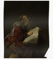 Painting - An Old Woman Reading, Probably the Prophetess Hannah, Rembrandt Harmensz. van Rijn, 1631  Poster