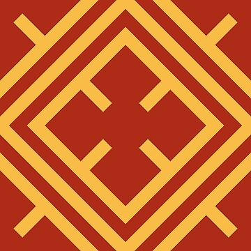 Red and Gold Cross Pattern by joshcartoonguy
