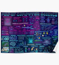 Karte der Informatik Poster