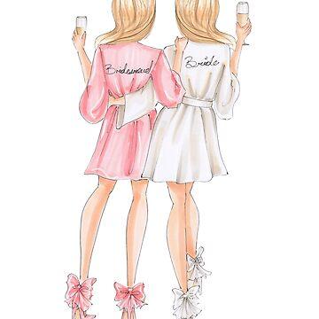 blonde bride and bridesmaid by reyniramirezfi