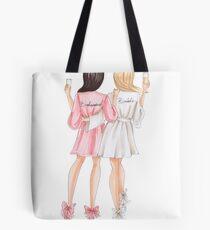 Brown hair bridesmaid Tote Bag