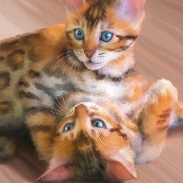 Playful Bengals by janegirardot