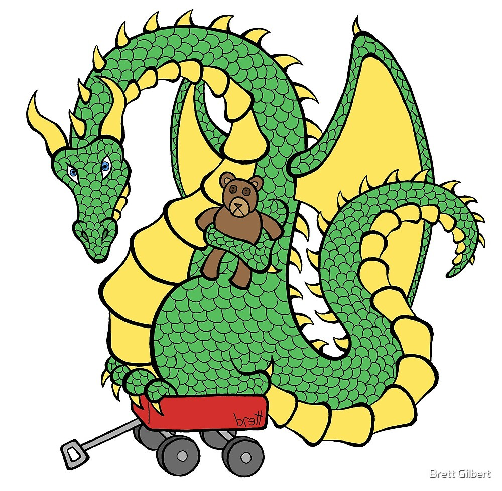 Dragon With a Wagon by Brett Gilbert