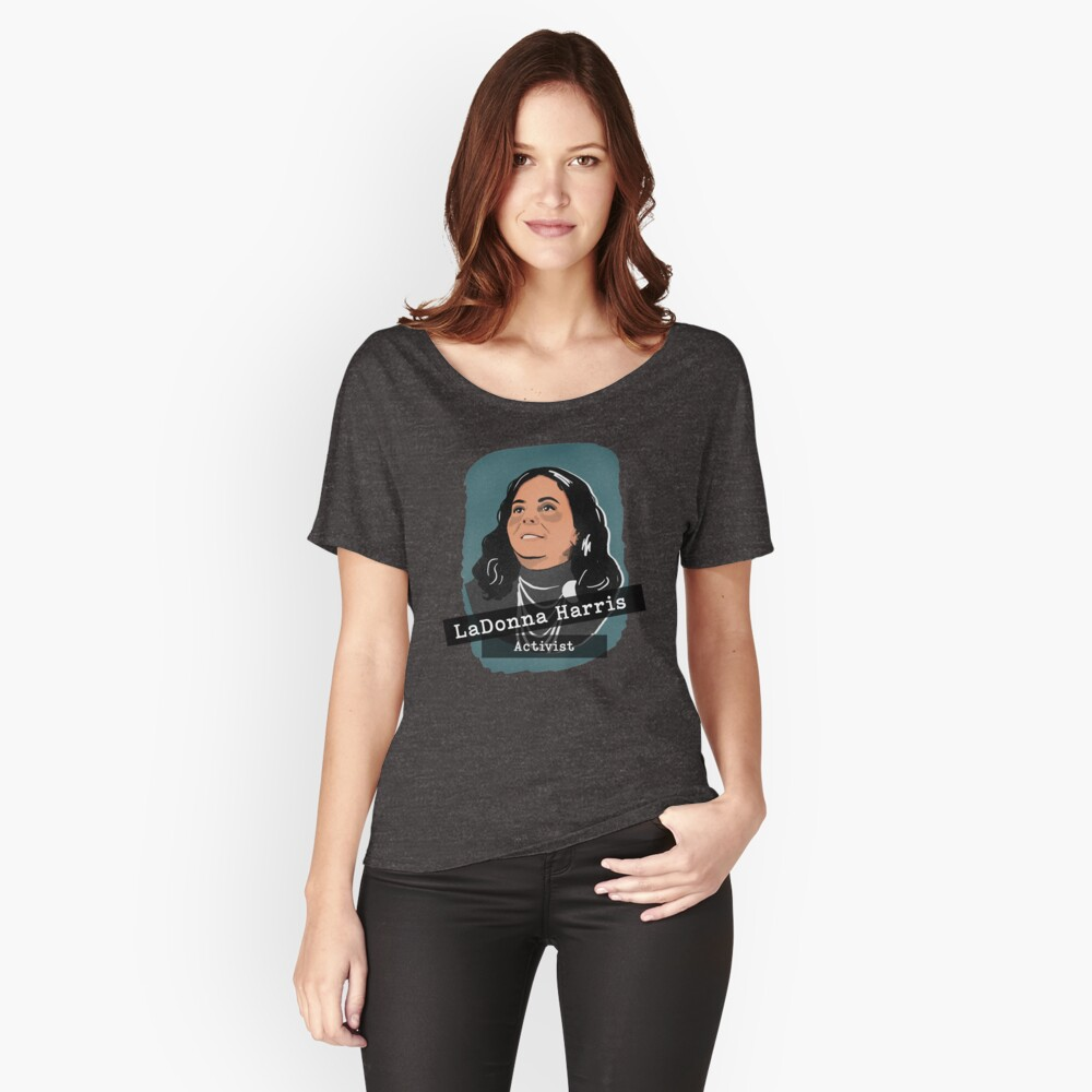 Herstory Portrait: LaDonna Harris Women's Relaxed Fit T-Shirt Front