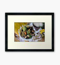 raw sushi & raw crackers dish Framed Print