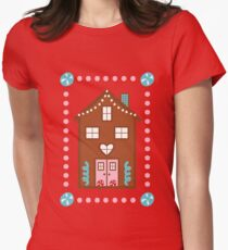 Gingerbread House Women's Fitted T-Shirt