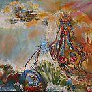 Goddess Iannana  Acrylic on canvas 16x20 by eoconnor