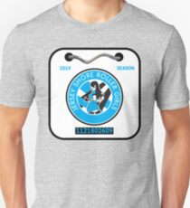 Jersey Shore Roller Girls Beach Badge Slim Fit T-Shirt
