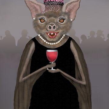 Vampire Bat in a Little Black Dress by Fullfrogmoon