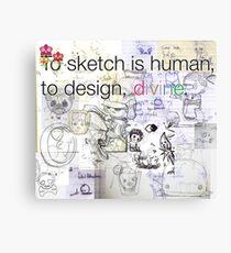 mikoto's Sketchbook Canvas Print