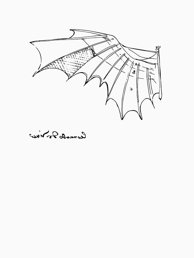 Leonardo Da Vinci Flying Machine T Shirt Reproduction Sketch