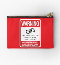 WARNING: Family Chantel Investigating The American Dollar Sign Studio Pouch