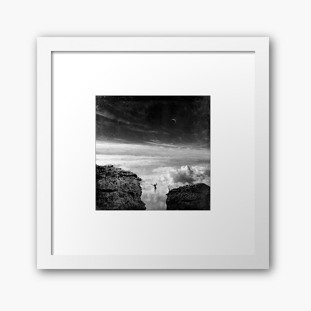 Here and There - Taking Risks Framed Art Print