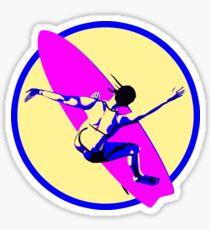 Surf Girl Sticker