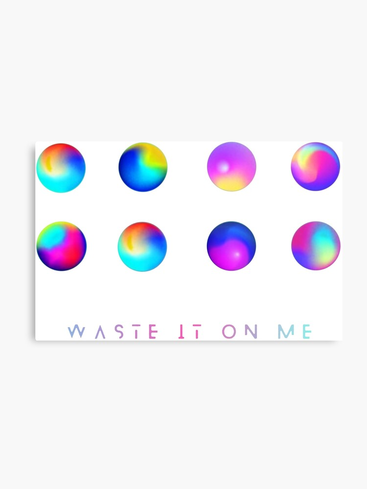 bts x steve aoki // waste it on me | Metal Print