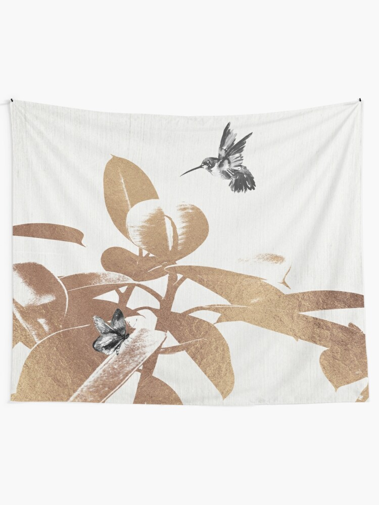 Alternate view of Fluttering Nature III Tapestry