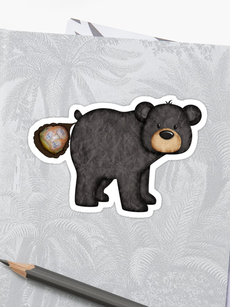 Does a bear poop in the woods? | Sticker